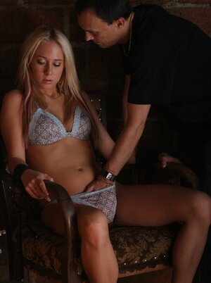 Luckily for aroused babe with blonde hair there's penis in her face for giving head