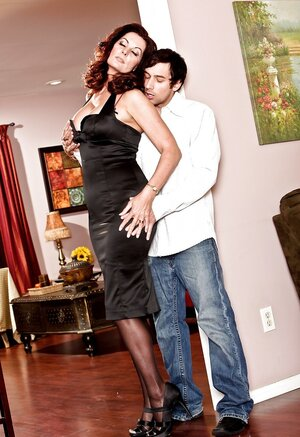 British grown-up woman Magdalene St.Michaels with dirty fantasies tempts stallion