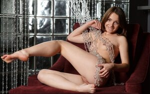 Gal is aroused and dirty-minded and she is doing filthy stuff on her own