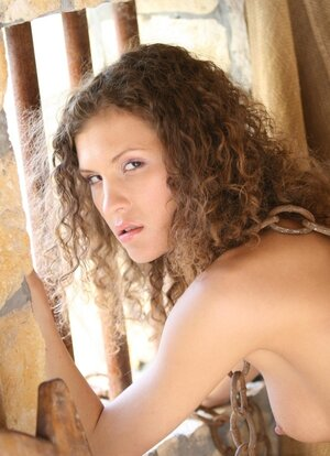 Curly-haired inmate loves to be dominated being bound up and also stuck in device