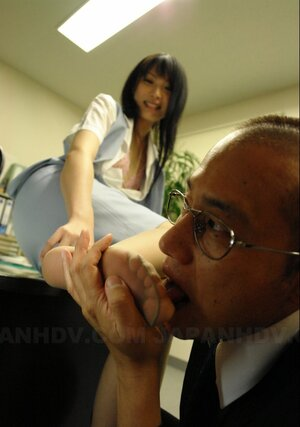 Adorable maid from Japan fucked and plus creampied by boss in porn digital stills